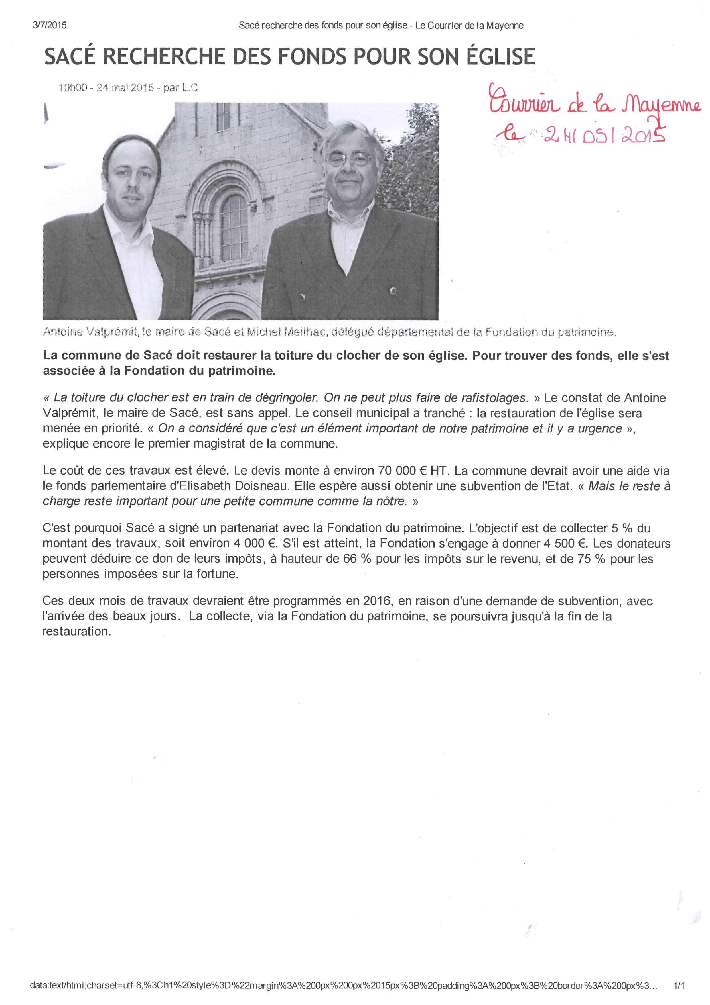 CLM Don pour Eglise 24.05.2015