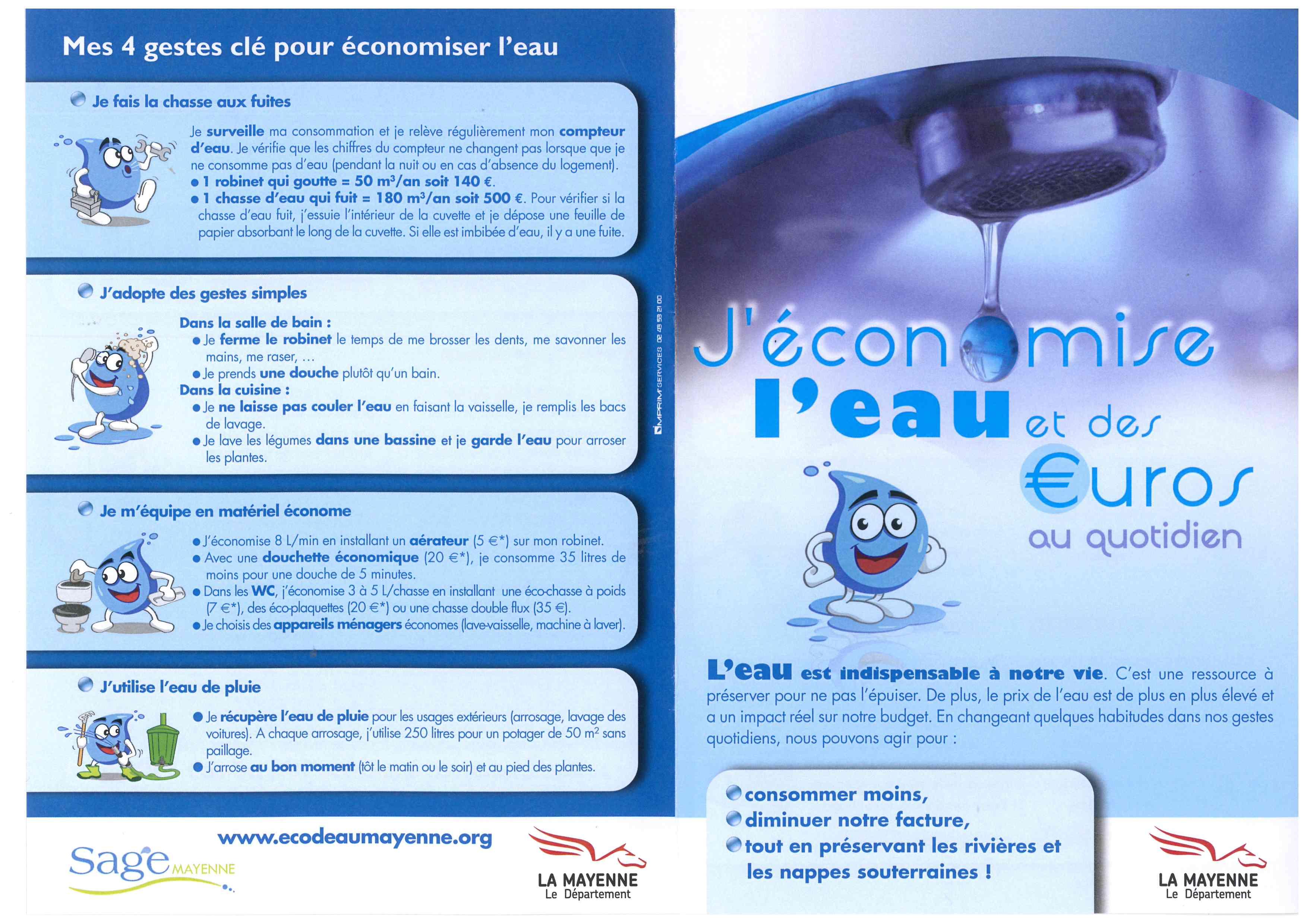 JECONOMIE L'EAU RECTO