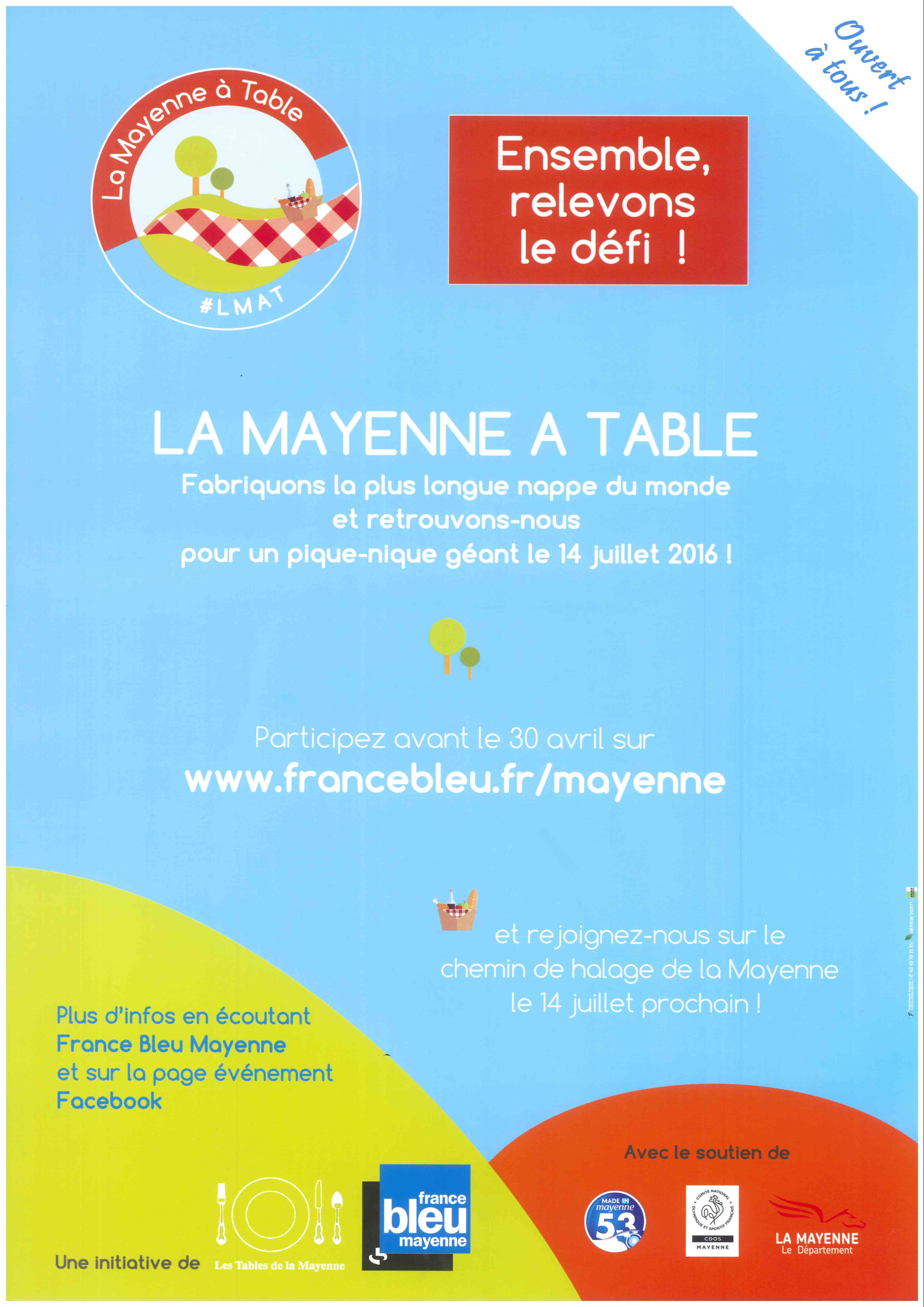 LA MAYENNE A TABLE