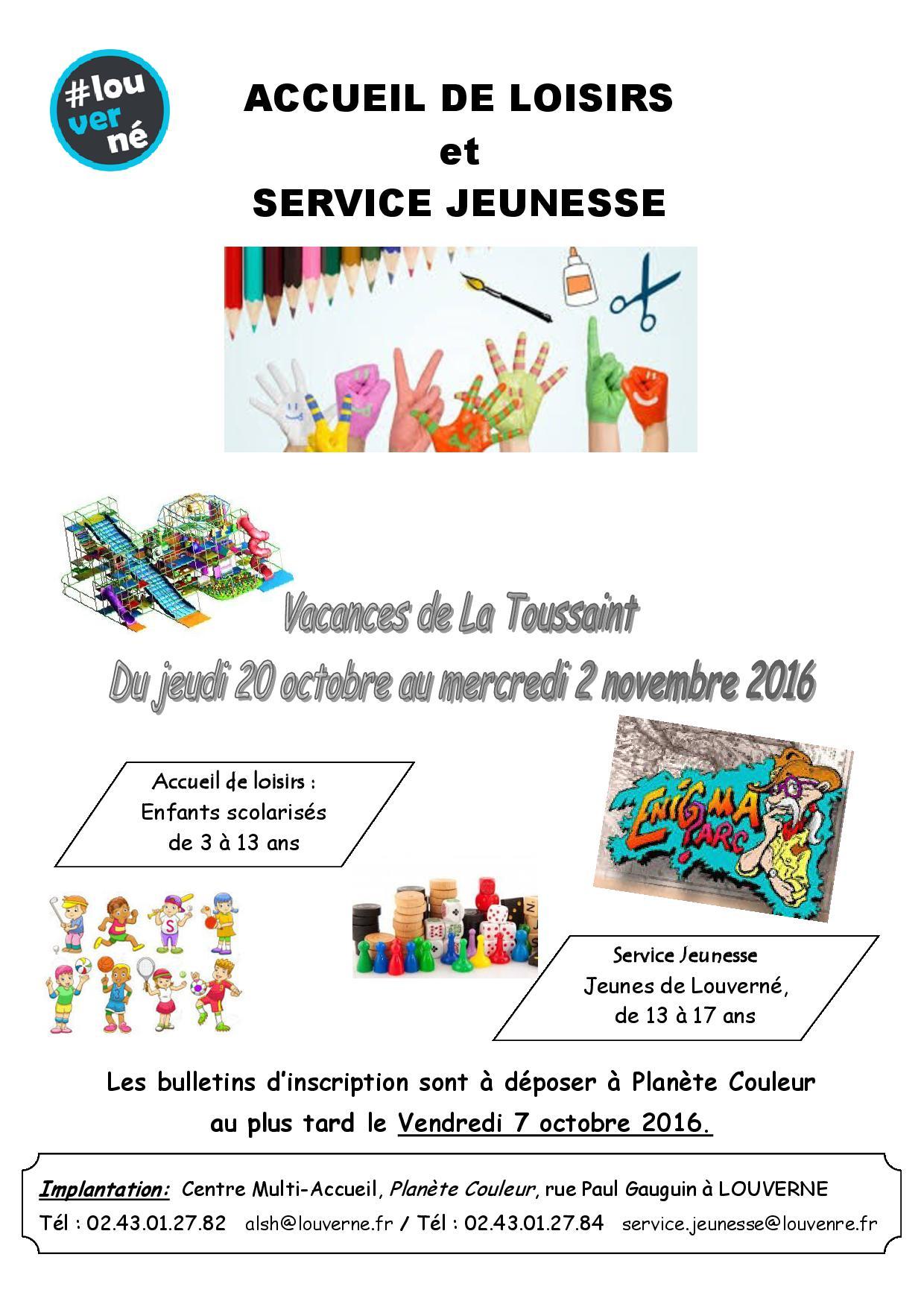 Centre de loisirs plan te couleurs vacances la toussaint 2016 commune de sac - Vacances de la toussaint 2016 ...