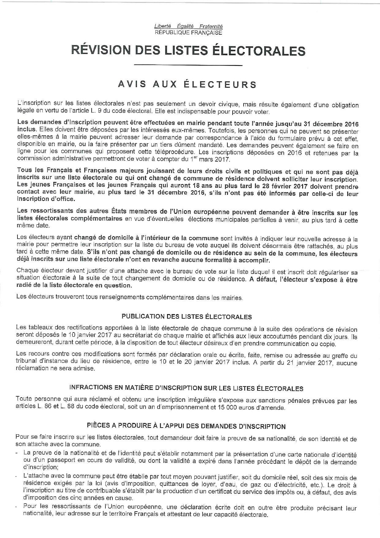 affiche-revision-liste-electorale-2016