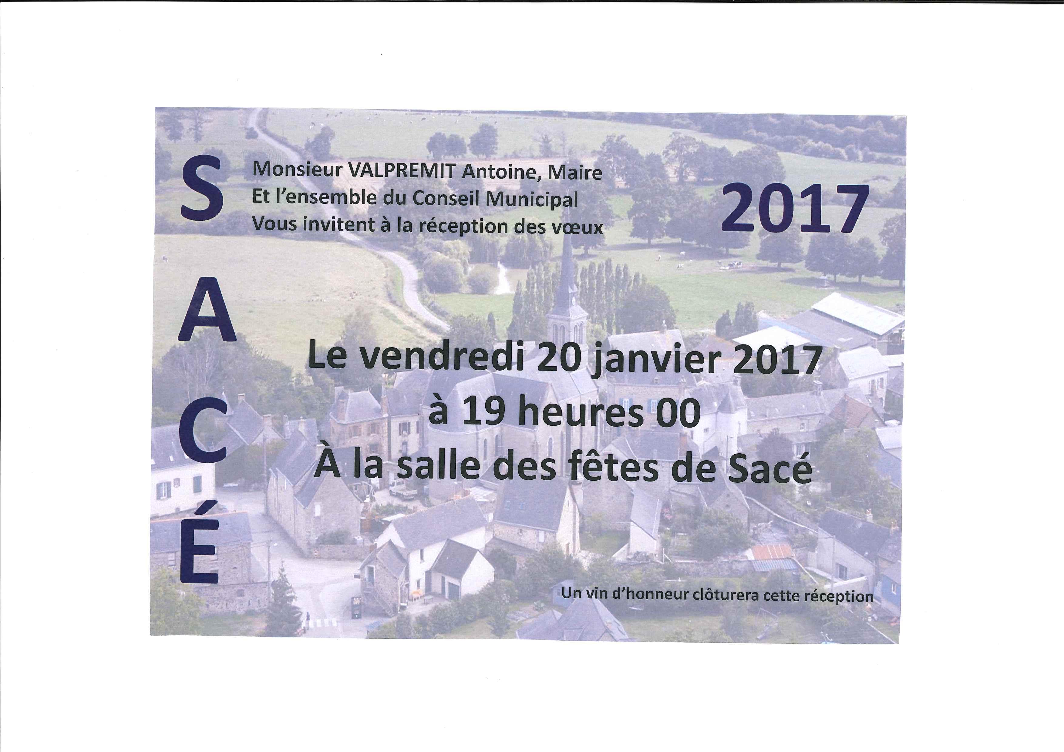 Vœux du maire @ Salle des Fêtes   Sacé   Pays de la Loire   France