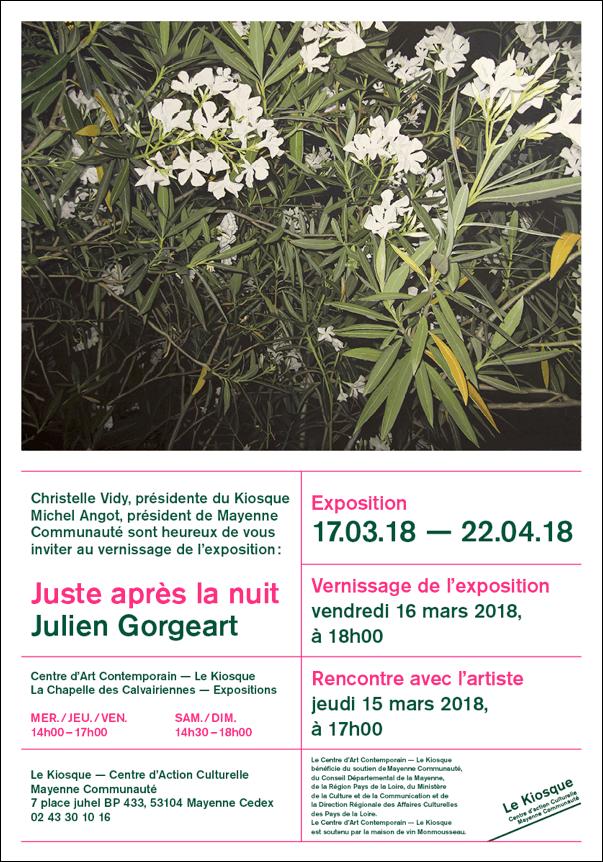 """LE KIOSQUE - Exposition """"Juste après la nuit"""""""
