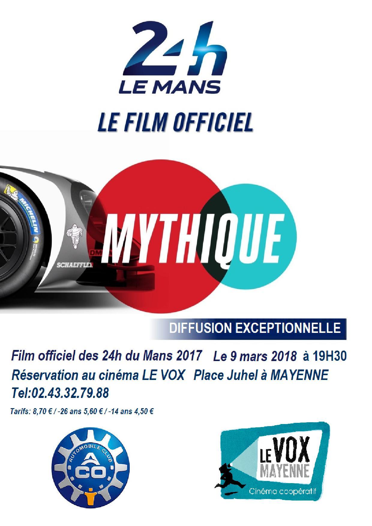 24 h Le mans - Le film officiel @ Cinéma le Vox  | Mayenne | Pays de la Loire | France