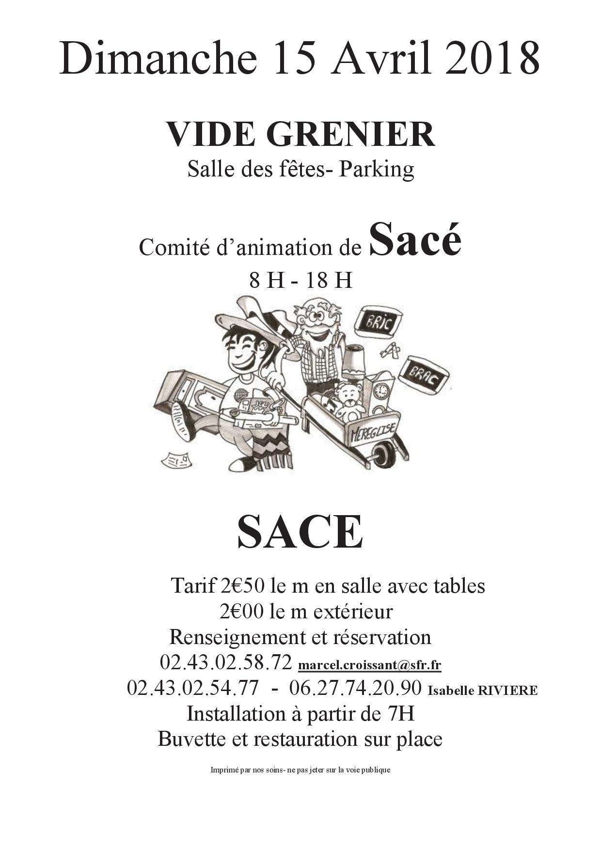 Vide grenier @ SALLE DES FETES | Sacé | Pays de la Loire | France