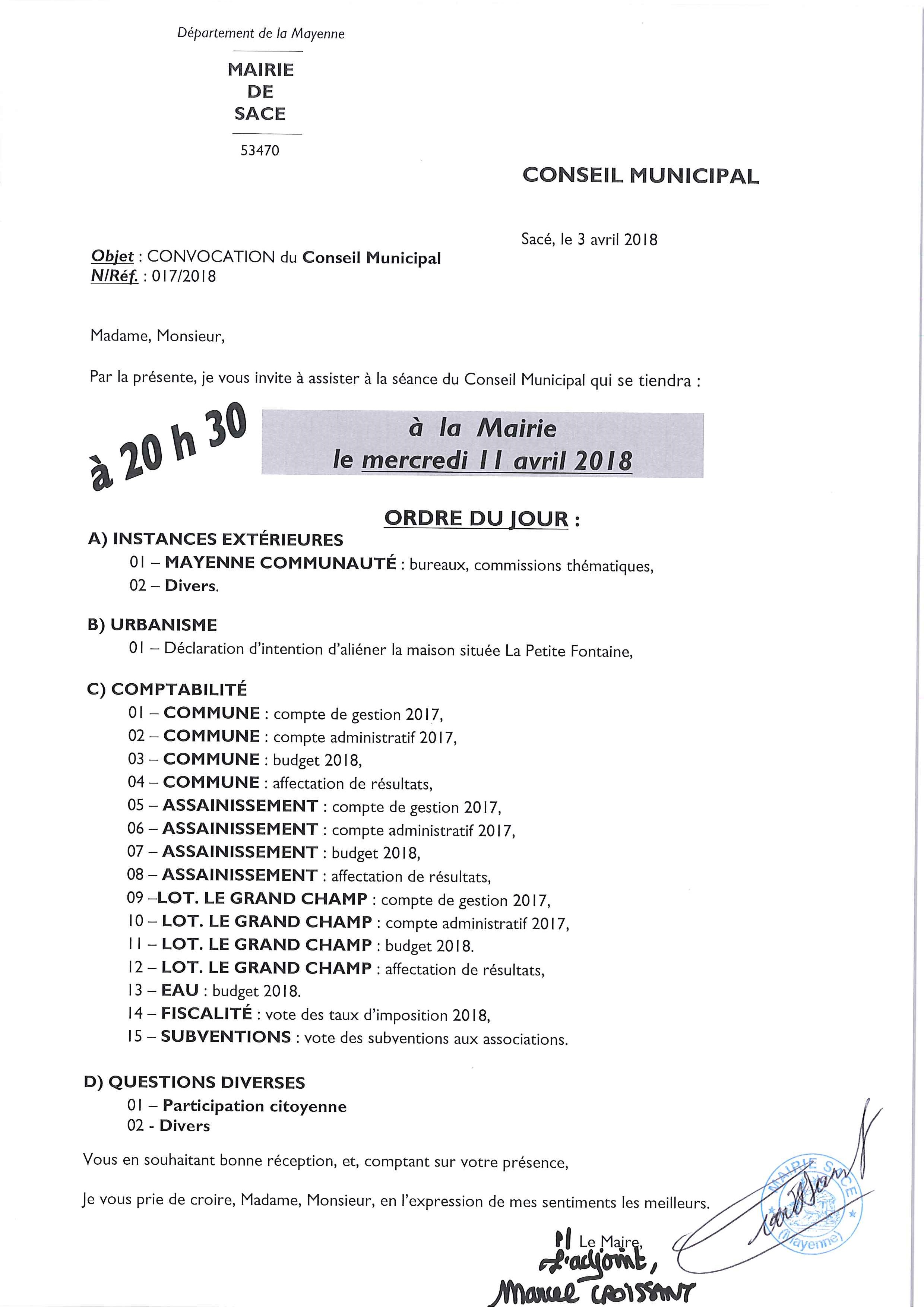 Conseil Municipal @ MAIRIE DE SACE - Salle du Conseil Municipal | Sacé | Pays de la Loire | France