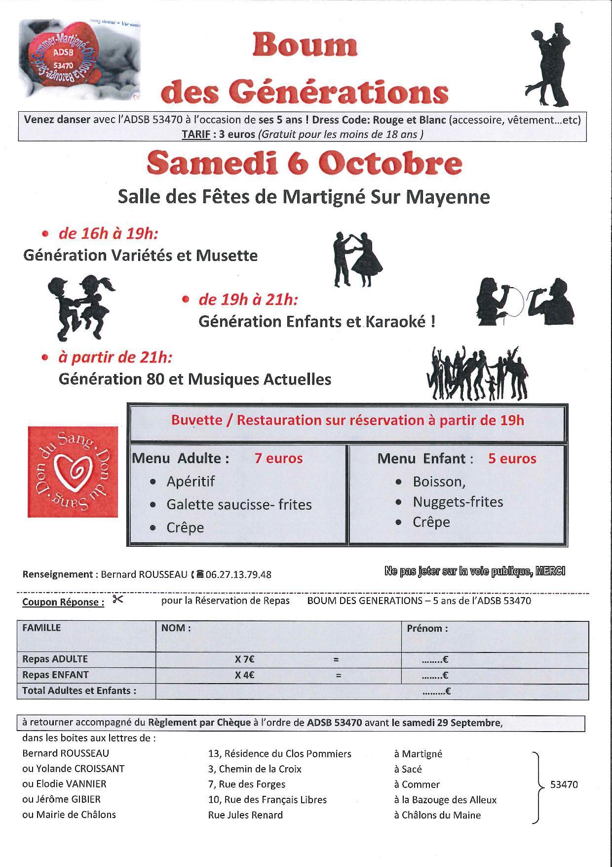 Boum des générations @ Salle des fêtes | Martigné-sur-Mayenne | Pays de la Loire | France