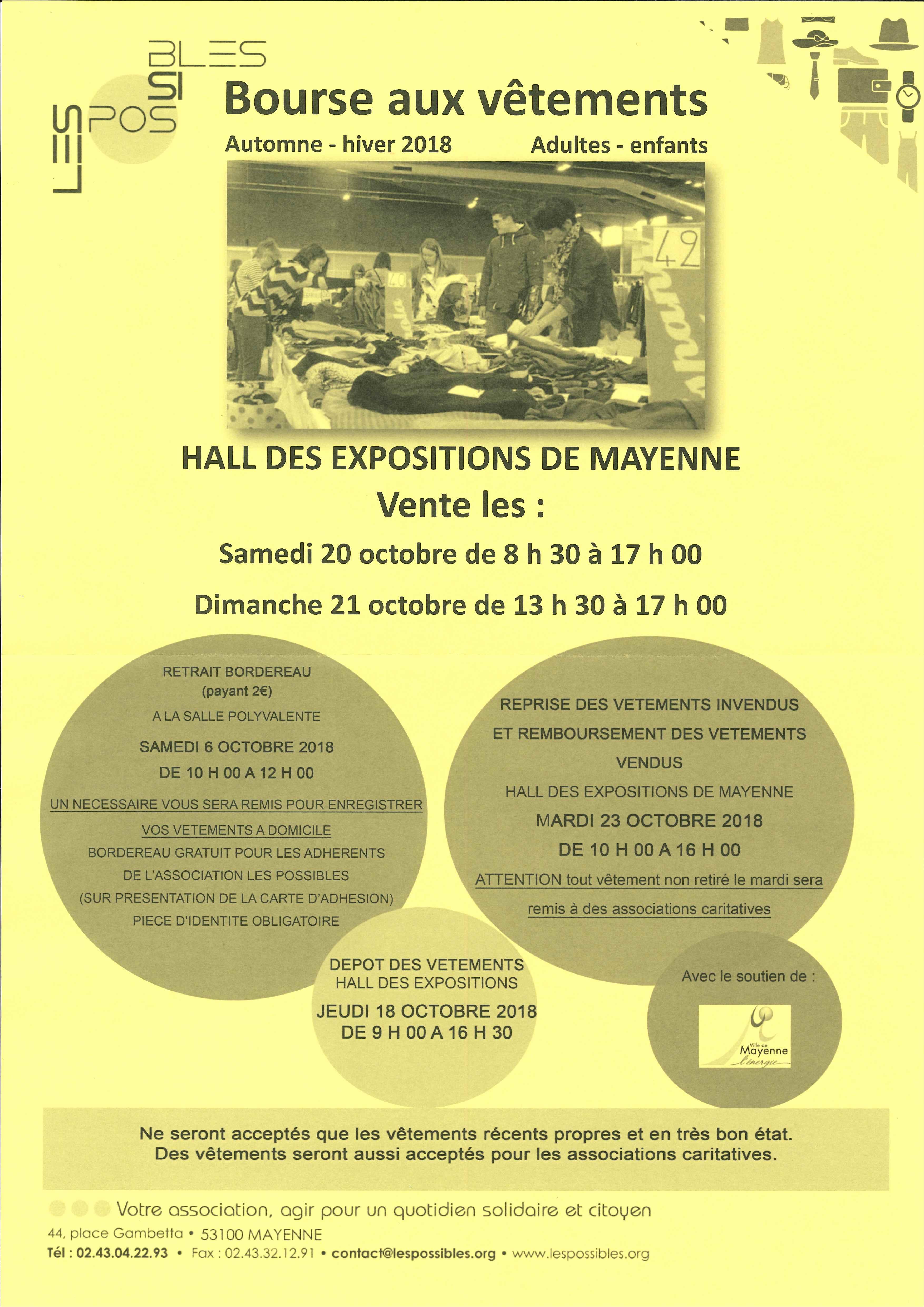 MAYENNE - Bourse aux vêtements @ Hall des expositions | Mayenne | Pays de la Loire | France