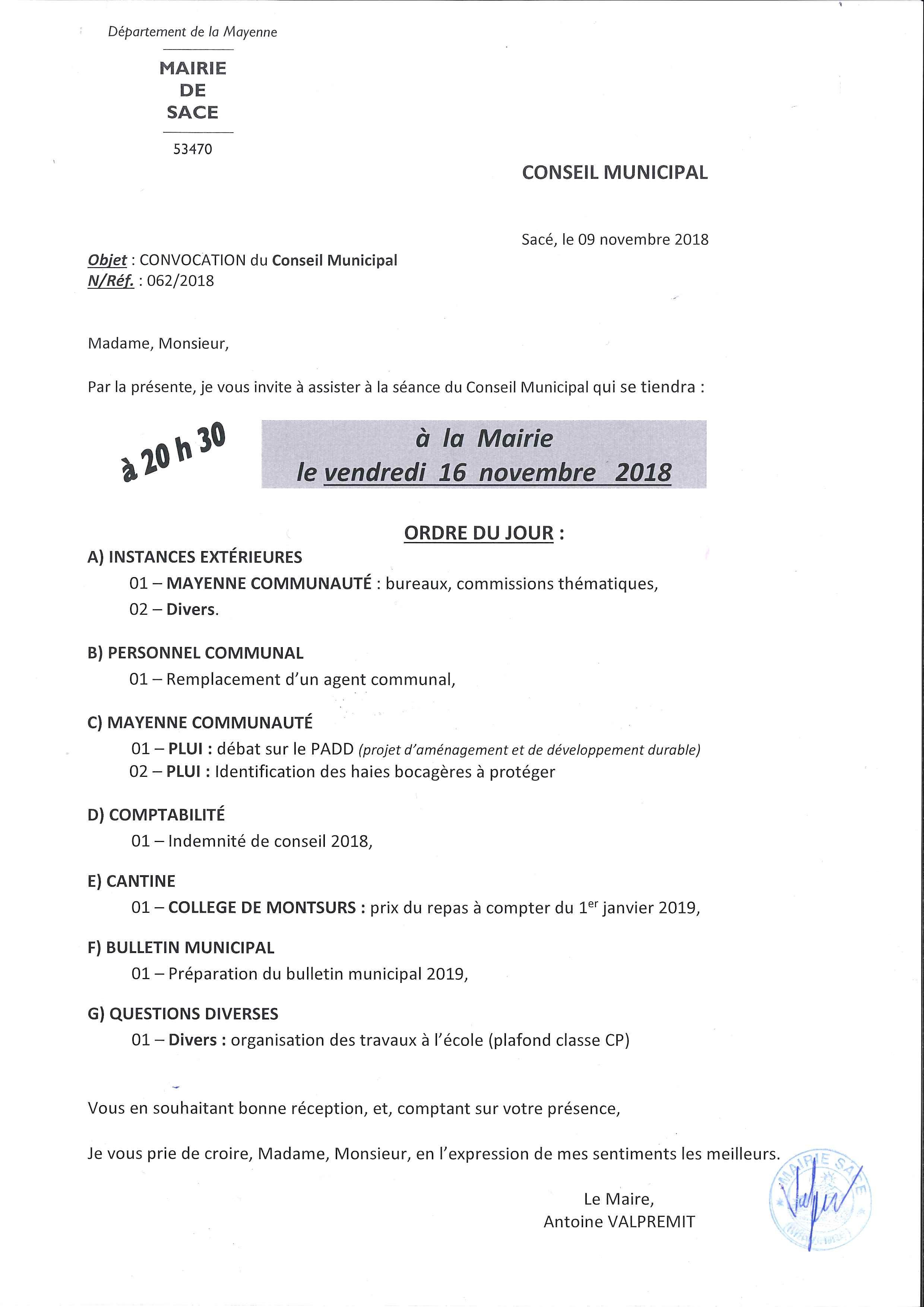 Conseil Municipal @ MAIRIE - salle du conseil municipal   Sacé   Pays de la Loire   France