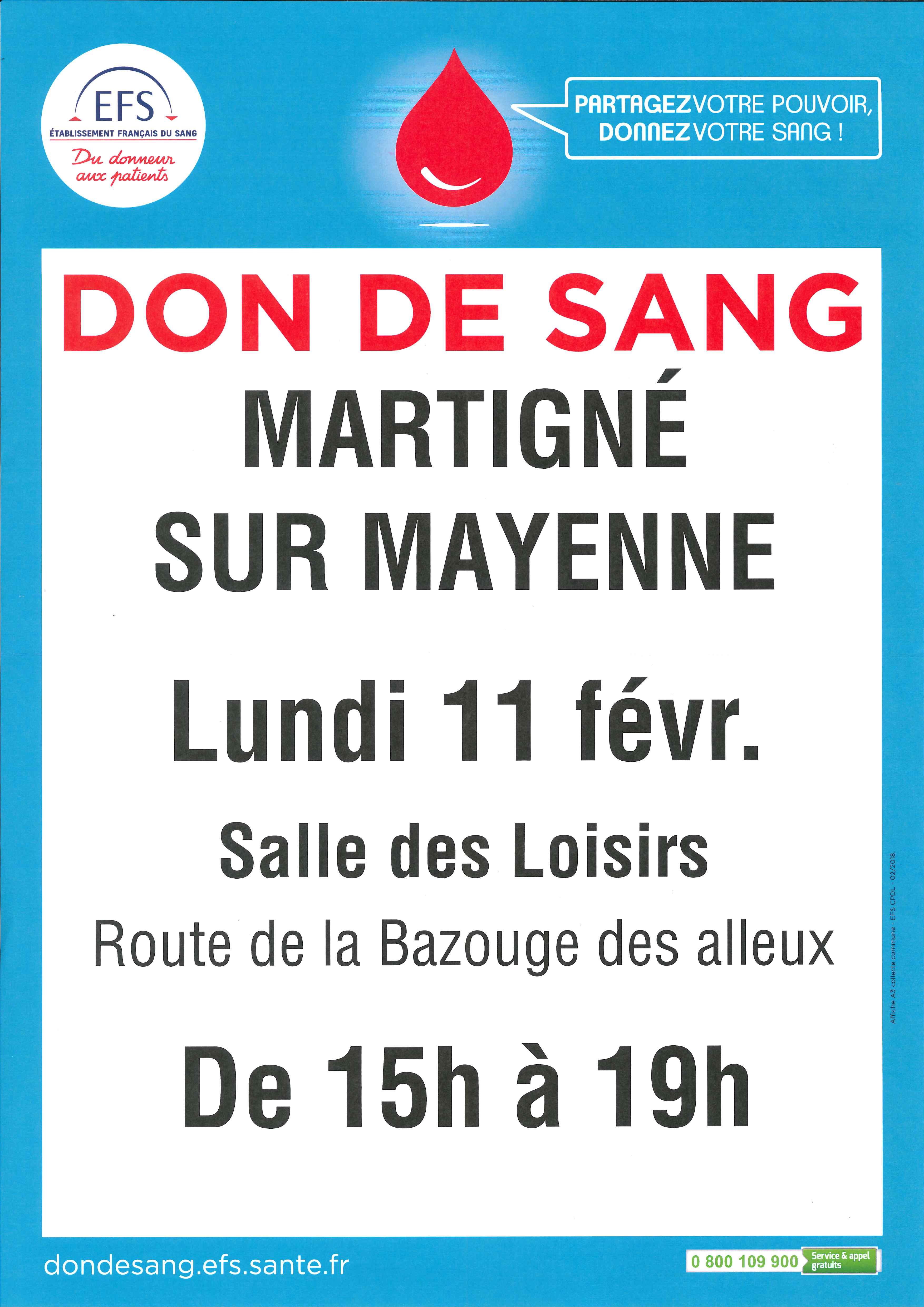 Don du sang @ Salle des Loisirs