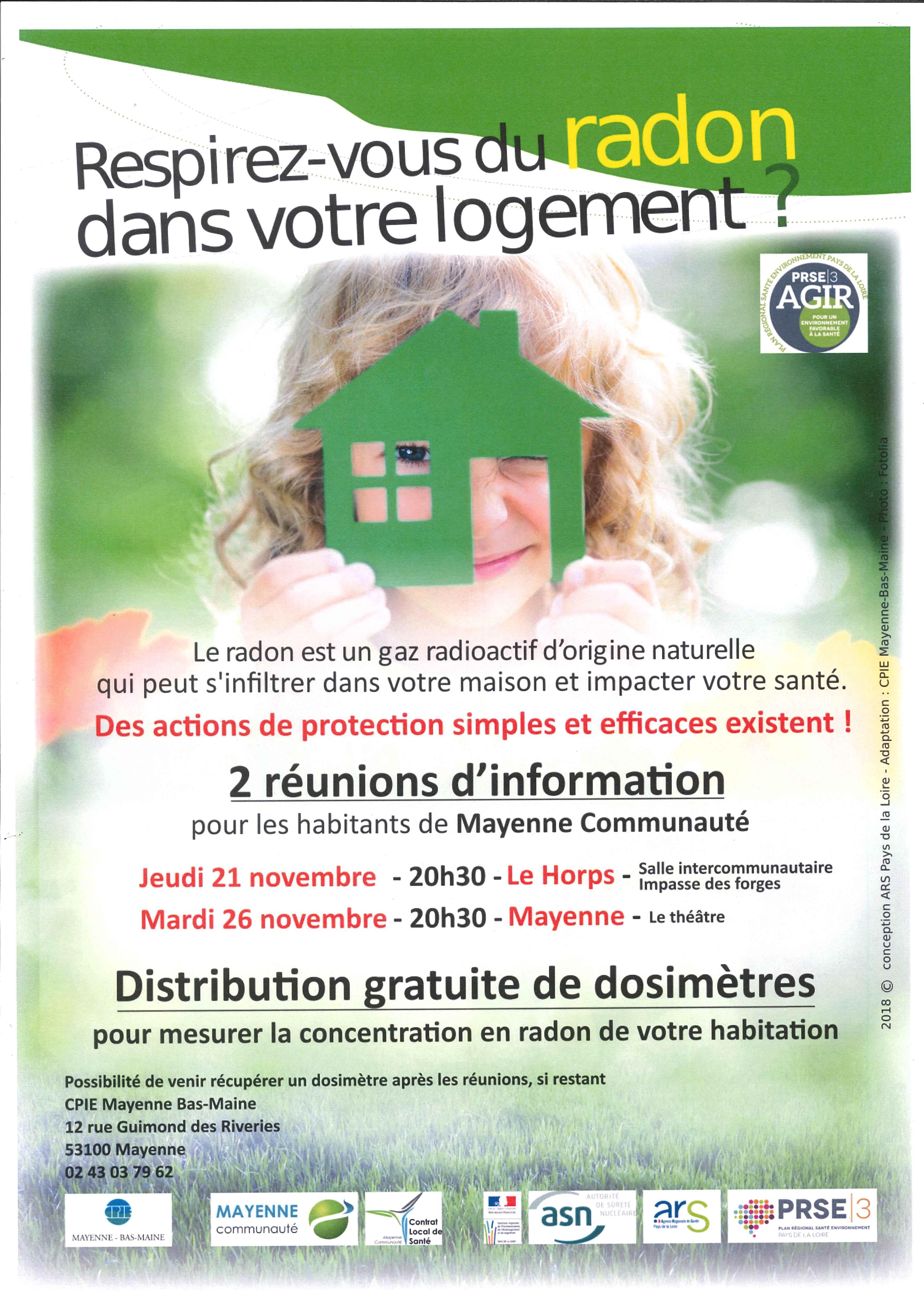 RADON - Respirez-vous du radon dans votre logement @ Le Théâtre