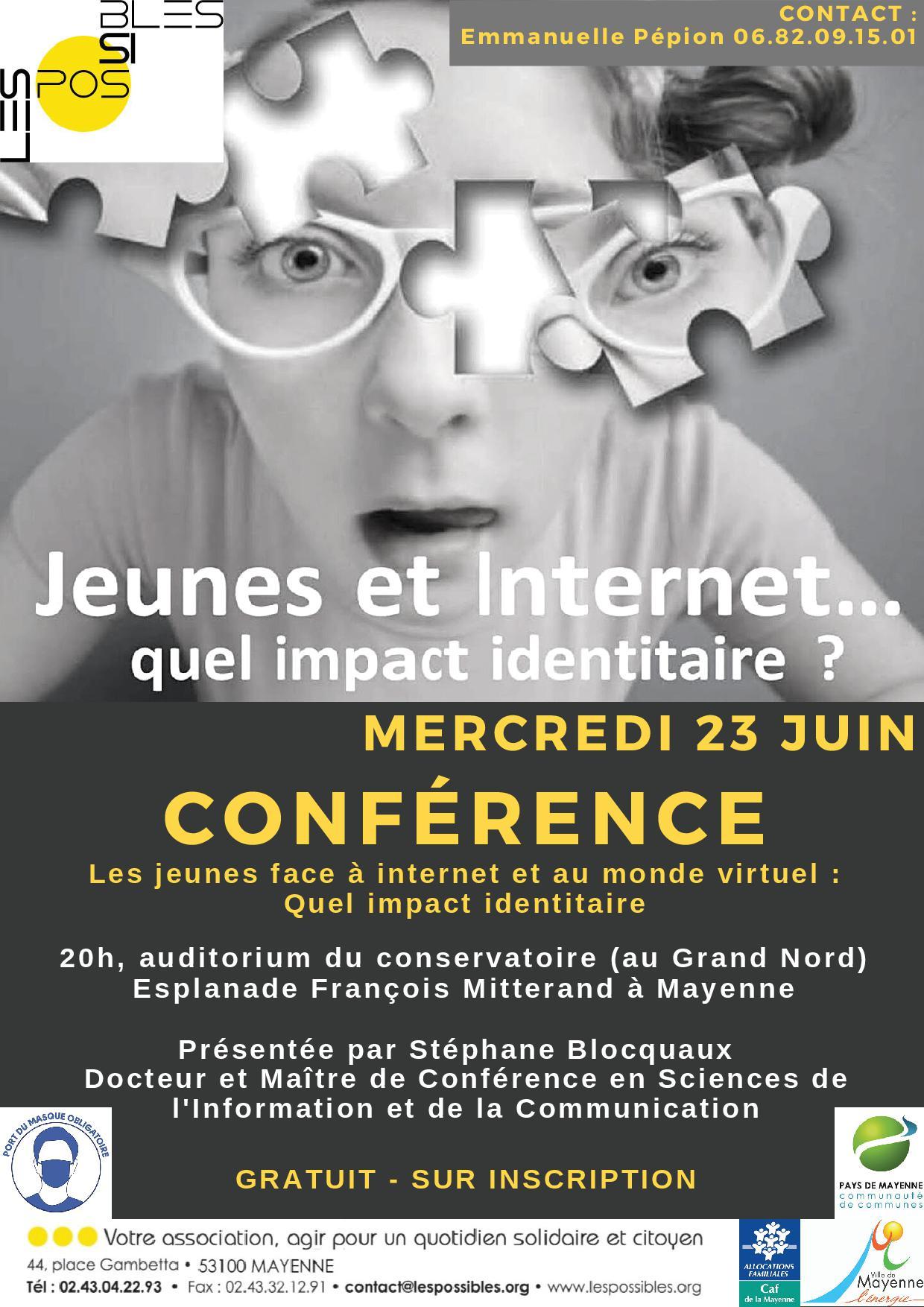 Conférence : Jeunes et internet quel impact identitaire ? @ Grand Nord - auditorium du conservatoire