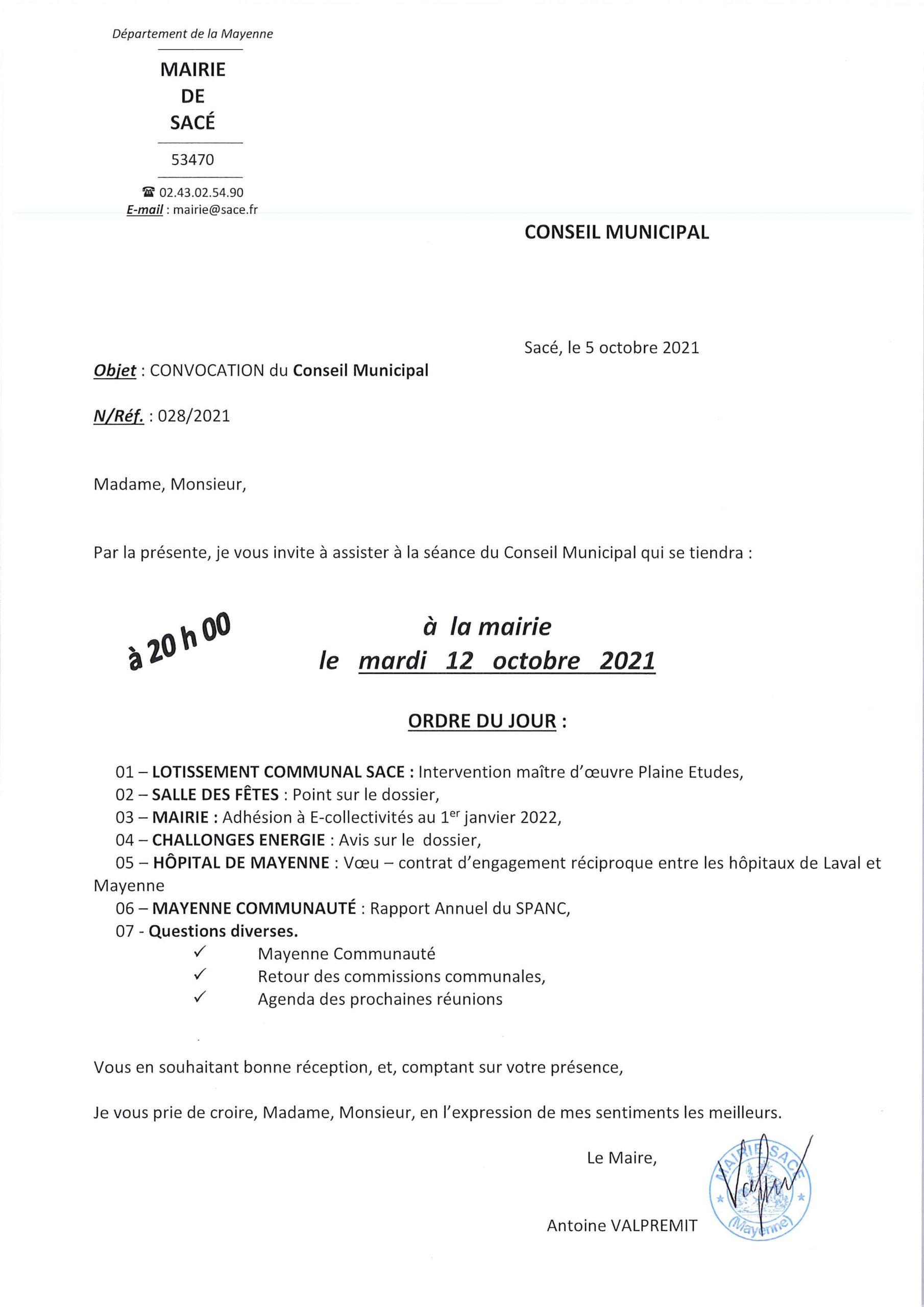 Conseil Municipal @ MAIRIE - Salle Conseil Municipal